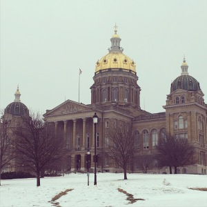 February: Quiet morning at the State Capitol. #Iowa