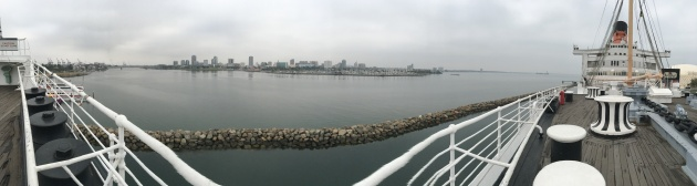 May: Pano of Long Beach from the Queen Mary.